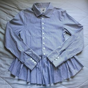 ONE TEASPOON Striped peplum button up AUS 10/ US 6